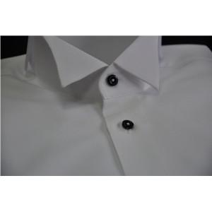 Rever camasa pentru papion cu nasturi negri