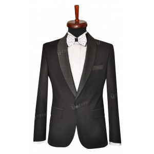 Rever Black tie contrast dots /wide