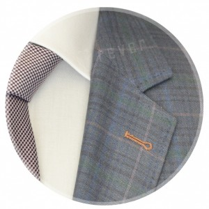 Rever Orange Checks Cerruti