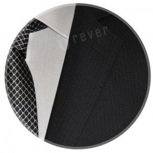 Rever Business Black Herringbone