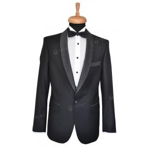Rever Black Tie Contrast Smoking